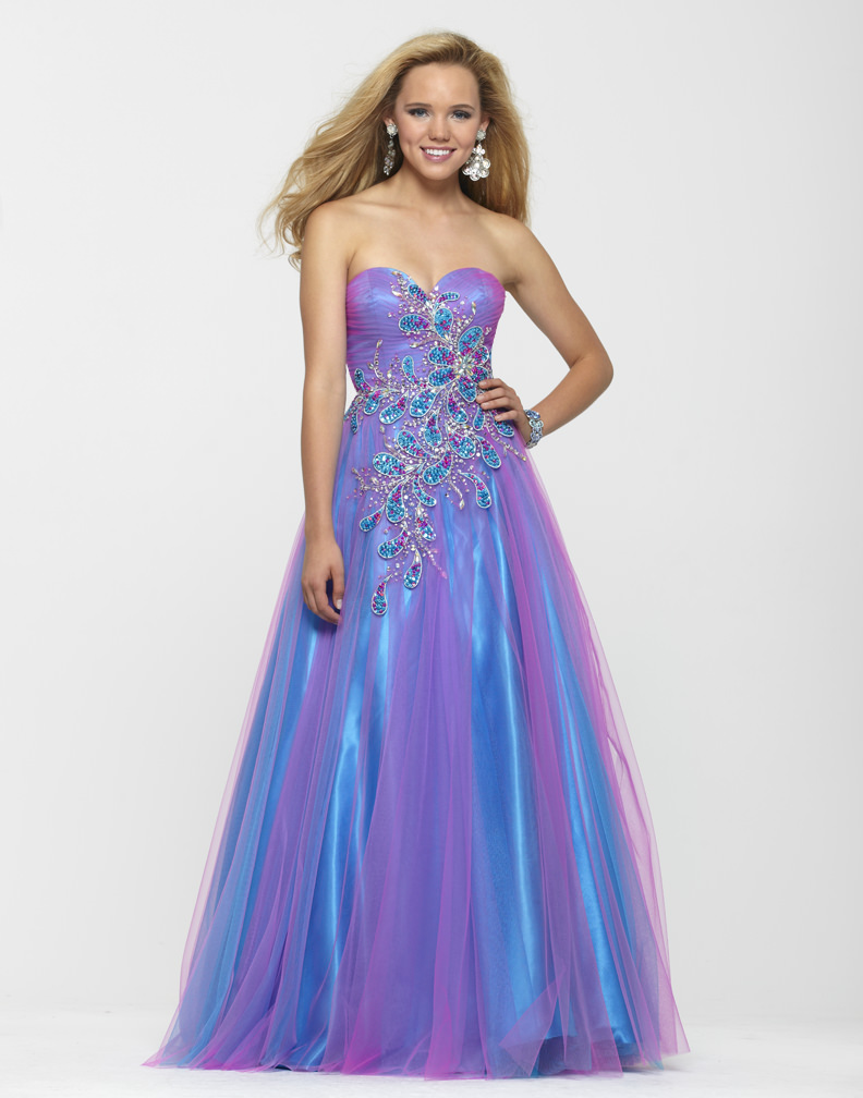 Clarisse 2013 Cotton Candy Blue Pink Strapless Sweetheart