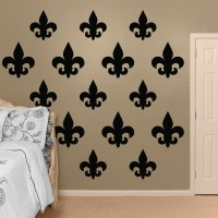Black Fleur de Lis Collection REALBIG Wall Decal