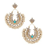 Gatsby Earrings in Turquoise, LOVE INDIA BY BLOSSOM BOX,