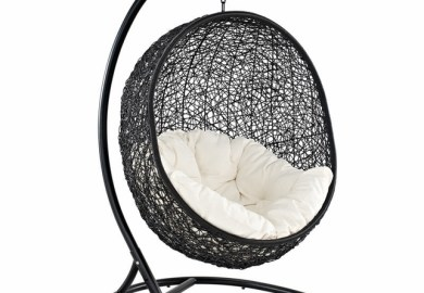 Hanging Wicker Chair With Stand