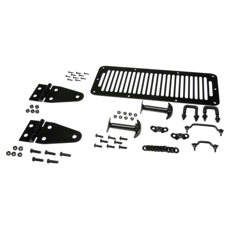 Kentrol 50470 Hood Kit Black Powder Coated Stainless, Jeep