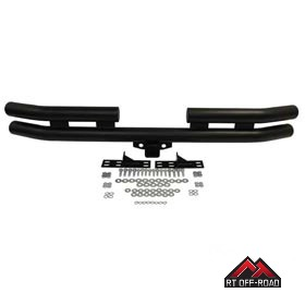 RT Off-Road B8448 Rear Double Tube Bumper with Hitch