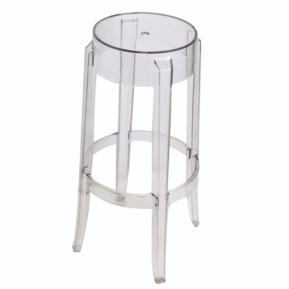 Acrylic Bar Stool, Clear
