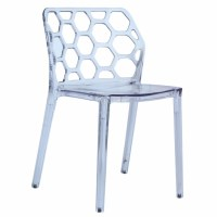 Honeycomb Dining Chair, Clear - Modern In Designs