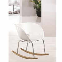 Vac Arm Rocker Chair, White - Modern In Designs