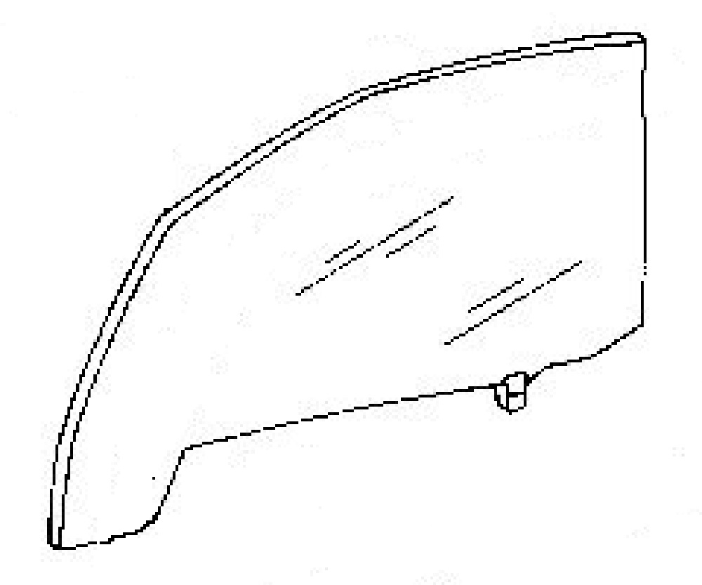 Front Door Glass Driver Side Toyota Previa Mini Van 1991-1997