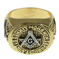 Masonic Master Mason Ring Gold