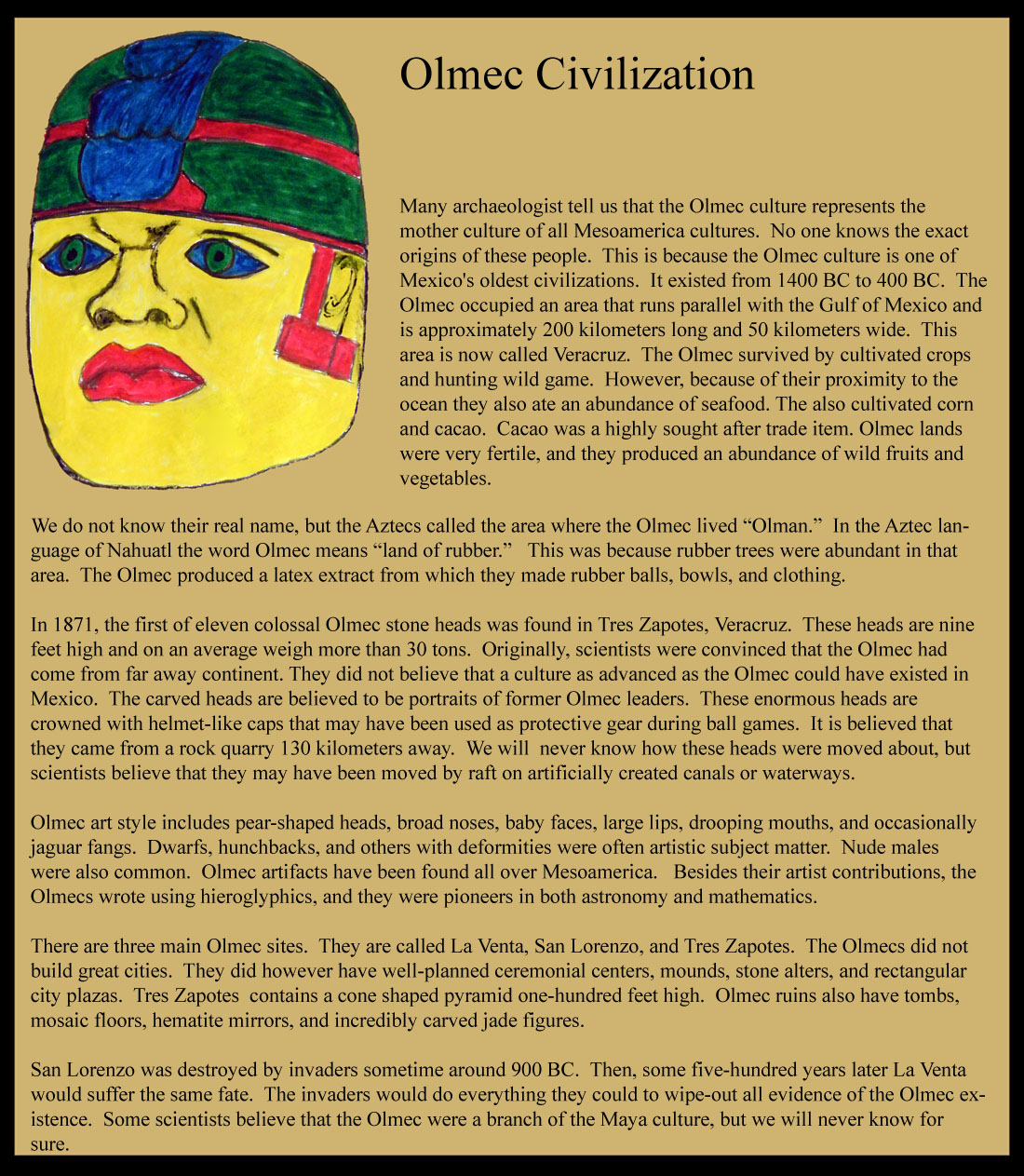 Ancient Olmec Civilization