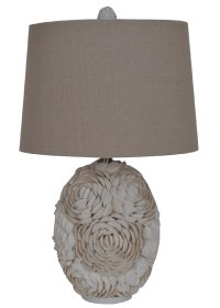 "24"" Calypso Shell Table Lamp - Lighting"
