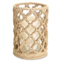 """7.5"""" Rope Look Pillar Candle Holder, Set of 3 - Candle ..."""