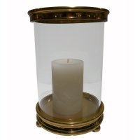 Gold Cylinder Aluminum Hurricane Candle Holder - Dessau ...