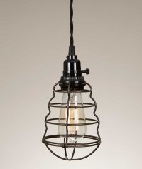 Wire Cage Pendant Lamp Light - Lighting Fixtures