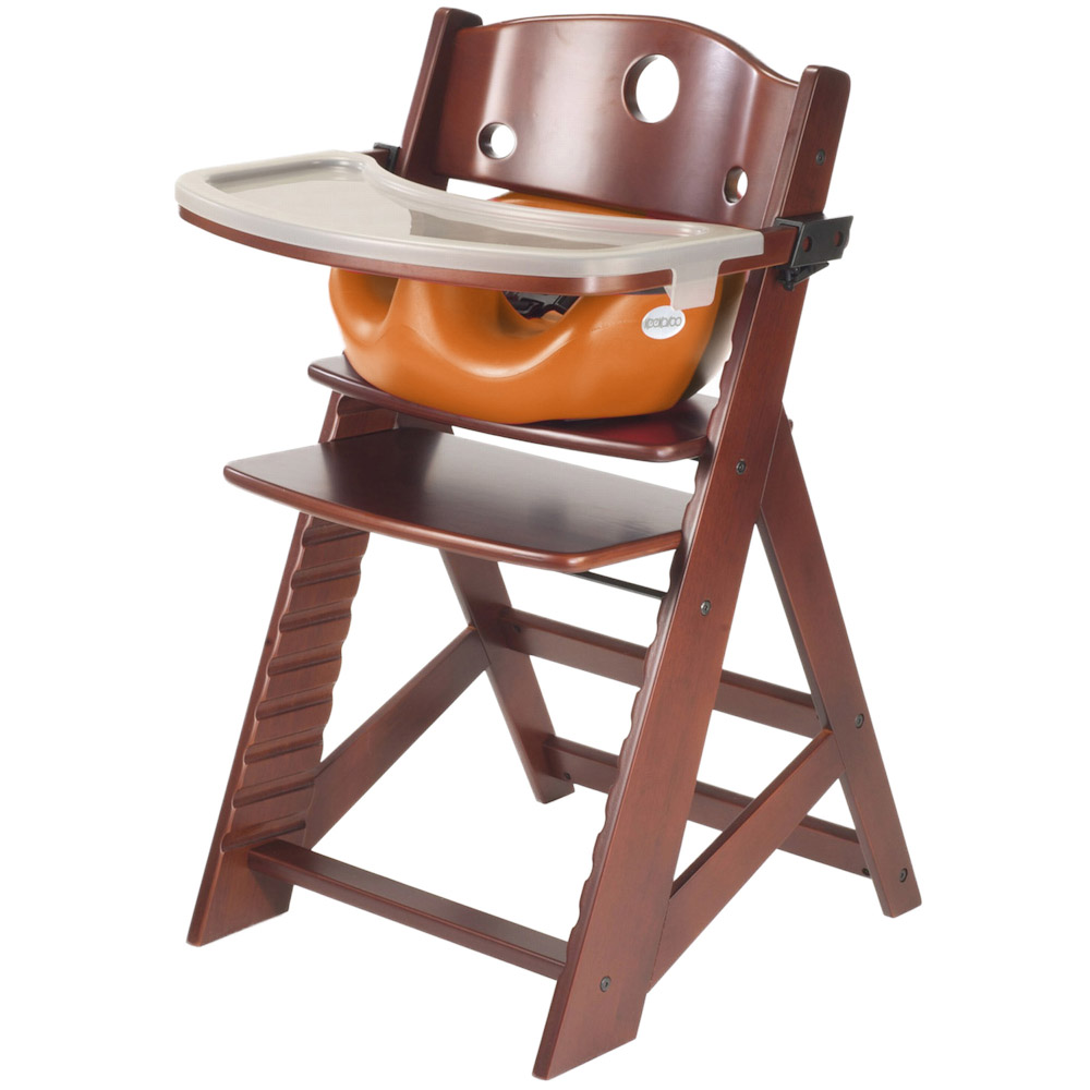 babyhome high chair cheap wicker chairs keekaroo height right + tray infant insert mahogany
