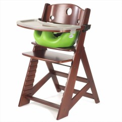 Keekaroo High Chair Office Massager Height Right + Tray Infant Insert Mahogany