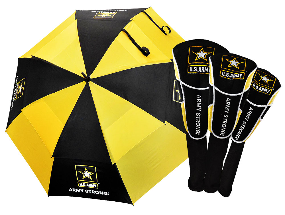 Ray Cook US Military 62 Double Canopy Umbrella With 3 Head Cover Set by Ray Cook Golf  Golf
