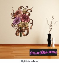 Floral Bouquet Flower Wall Decal - Wall Fabric ...