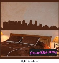 Philadelphia Skyline Vinyl Wall Decal - Wall Sticker - Car ...