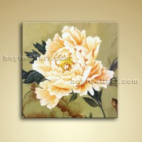 Abstract Flower Impressionist Painting Oil Contemporary ...