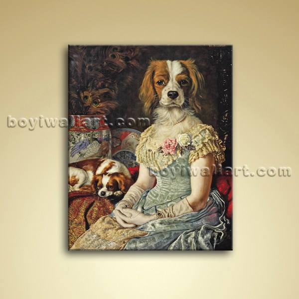 Animals With Famous Faces Oil Canvas Home Wall
