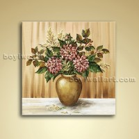 Classical Abstract Bouquet Flower Painting Oil Canvas Wall ...