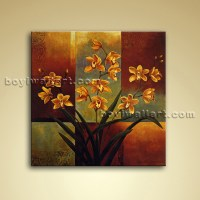 Contemporary Abstract Floral Painting Oil Canvas Wall Art ...