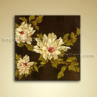 Contemporary Abstract Floral Painting Oil Picture On ...