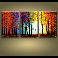 extra large wall art hand painted abstract landscape ...