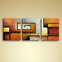Large 3 pc Modern Abstract Canvas Wall Art Giclee Oil ...