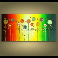 Original Abstract Painting Signed Large Gallery Wrapped ...