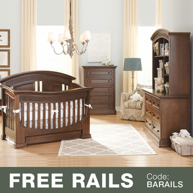 Baby Appleseed 4 Piece Nursery Set  Chelmsford 3in1 Convertible Crib Davenport 5 Drawer Tall