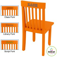 Kidkraft Avalon Chair Distressed Leather In Tangerine Free Shipping 47 95