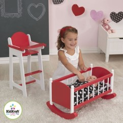 Baby Toy High Chair Set Massage Recliner Kidkraft Doll In Red Simply Furniture 49 00