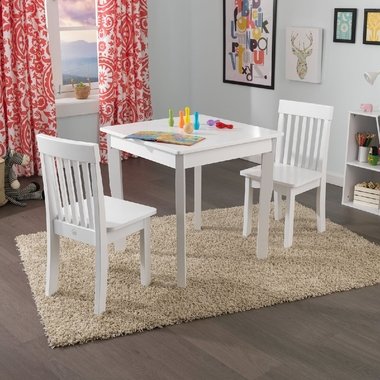 kidkraft white table and chairs double papasan chair frame only square 2 avalon set in free shipping