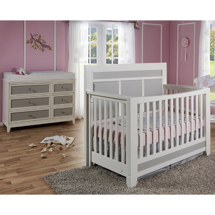 grey crib with drawers cheap online