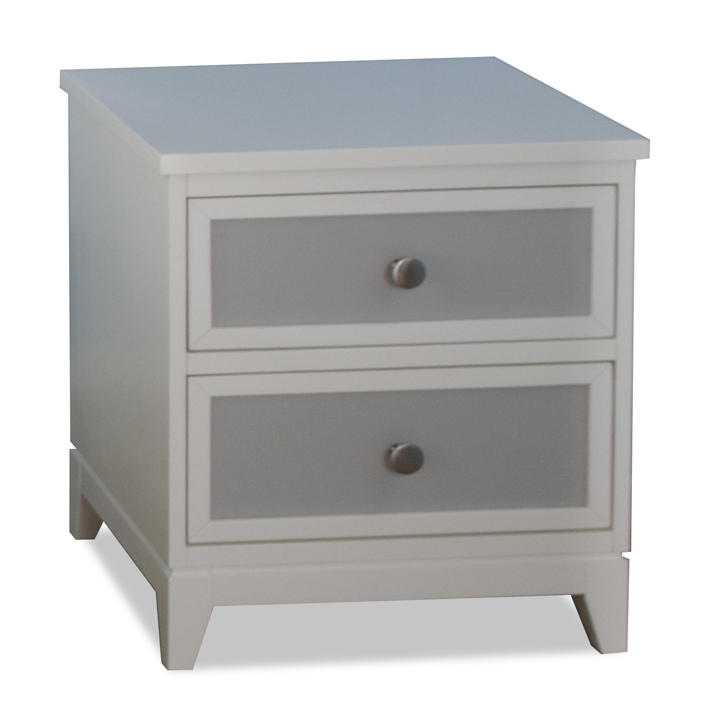 Pali Treviso Two Tone Nightstand In White Grey