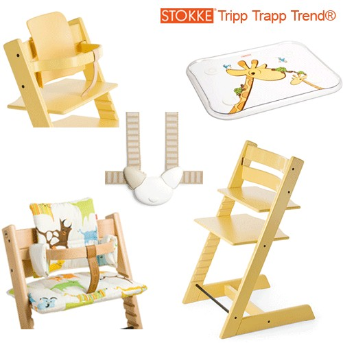 stokke chair harness catnapper lift chairs tripp trapp classic collection highchair in white free shipping