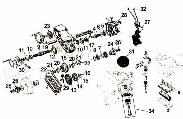 Willys CJ3A Dana Spicer 18 Transfer Case Parts from