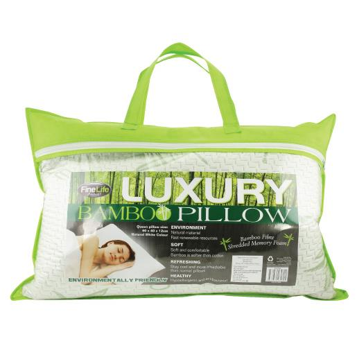Bamboo Memory Foam Queen Sized Pillow Wholesale at Koehler