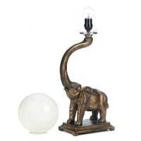 Trumpeting Elephant Globe Lamp Wholesale at Koehler Home Decor