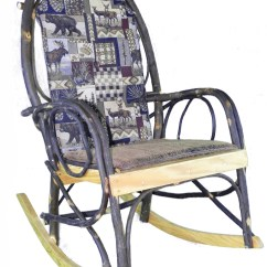 How To Make A Rocking Chair Not Rock Chairs For Living Rooms Amish Cushion Set Woodsman Fabric