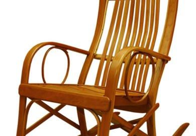 Solid Wood Rocking Chair Rustic Rocking Chairs By