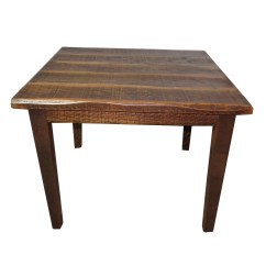 Distressed Kitchen Table Overhead Lights Rustic Oak 30 Quot High With 40x40 Top