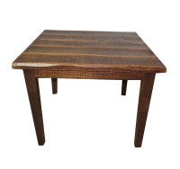 "Rustic Distressed Oak 30"" High Kitchen Table with 40X40 Top"