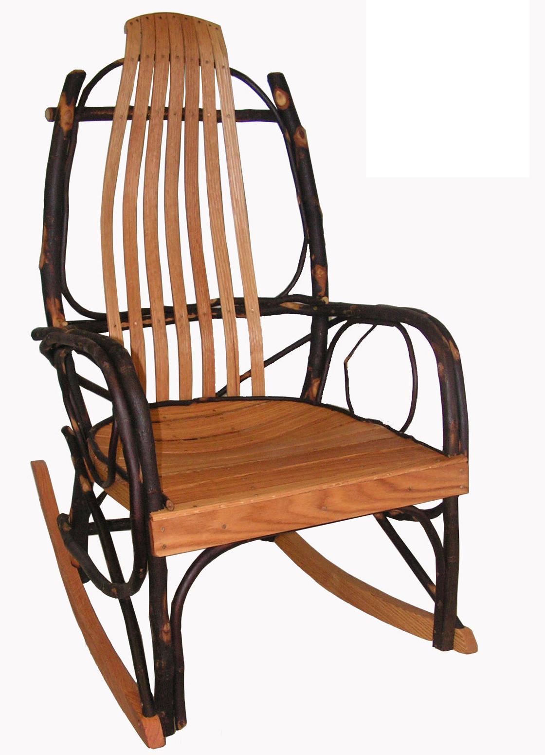 Amish Hickory and Oak bentwood rocker rocking chair