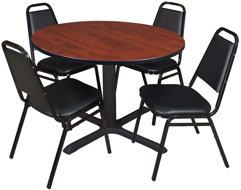 Cain 48 Round Laminate Breakroom Table with 4 Restaurant