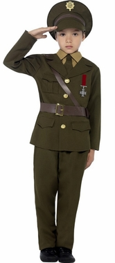 Childs WWII Army Officer Costume  1940s Costumes  40s