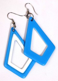 Kite Shaped Plastic Earrings - Candy Apple Costumes