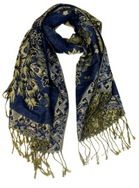 Wholesale double layer blue pashmina scarf
