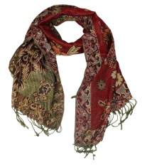 Wholesale double layer red pashmina scarf