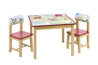 Guidecraft Farm Friends Kids Table & 2 Chairs Set - Free ...